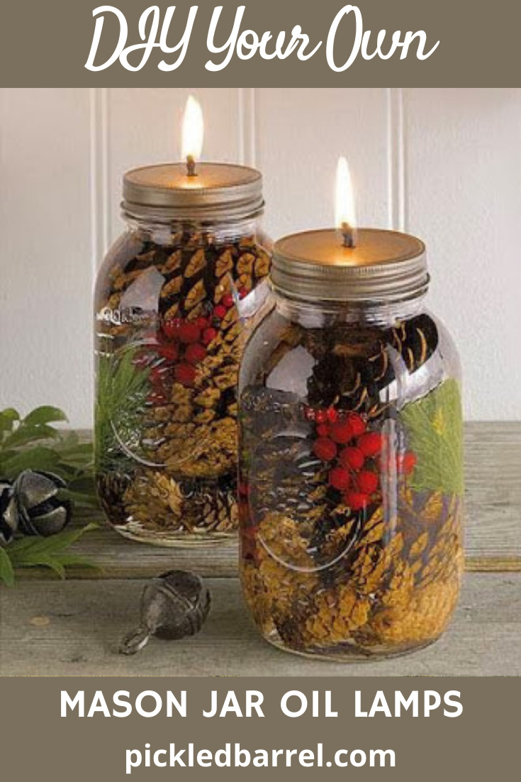 Pickledbarrel.com is filled with crafty and cozy rustic ideas and crafts. Make your space simple and old-school with these DIY mason jar oil lamps you'll be obsessed with!