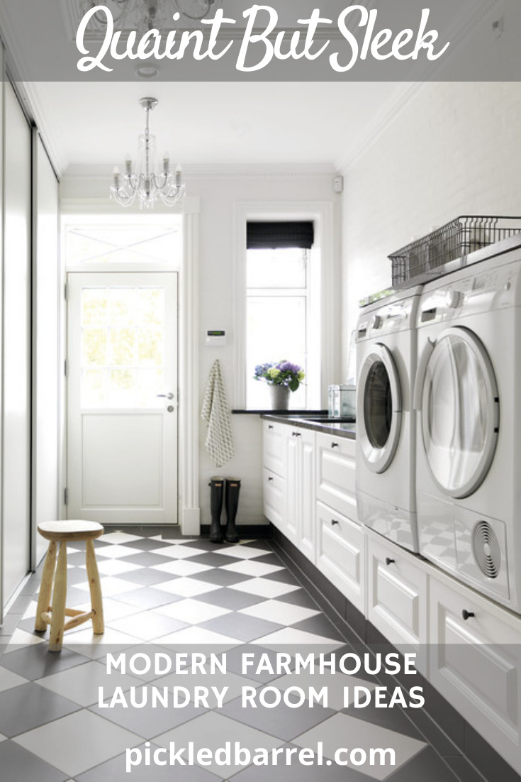 Laundry rooms in modern farmhouses are places to show off. Learn some stunning ideas how to make your modern farmhouse laundry room a showpiece.