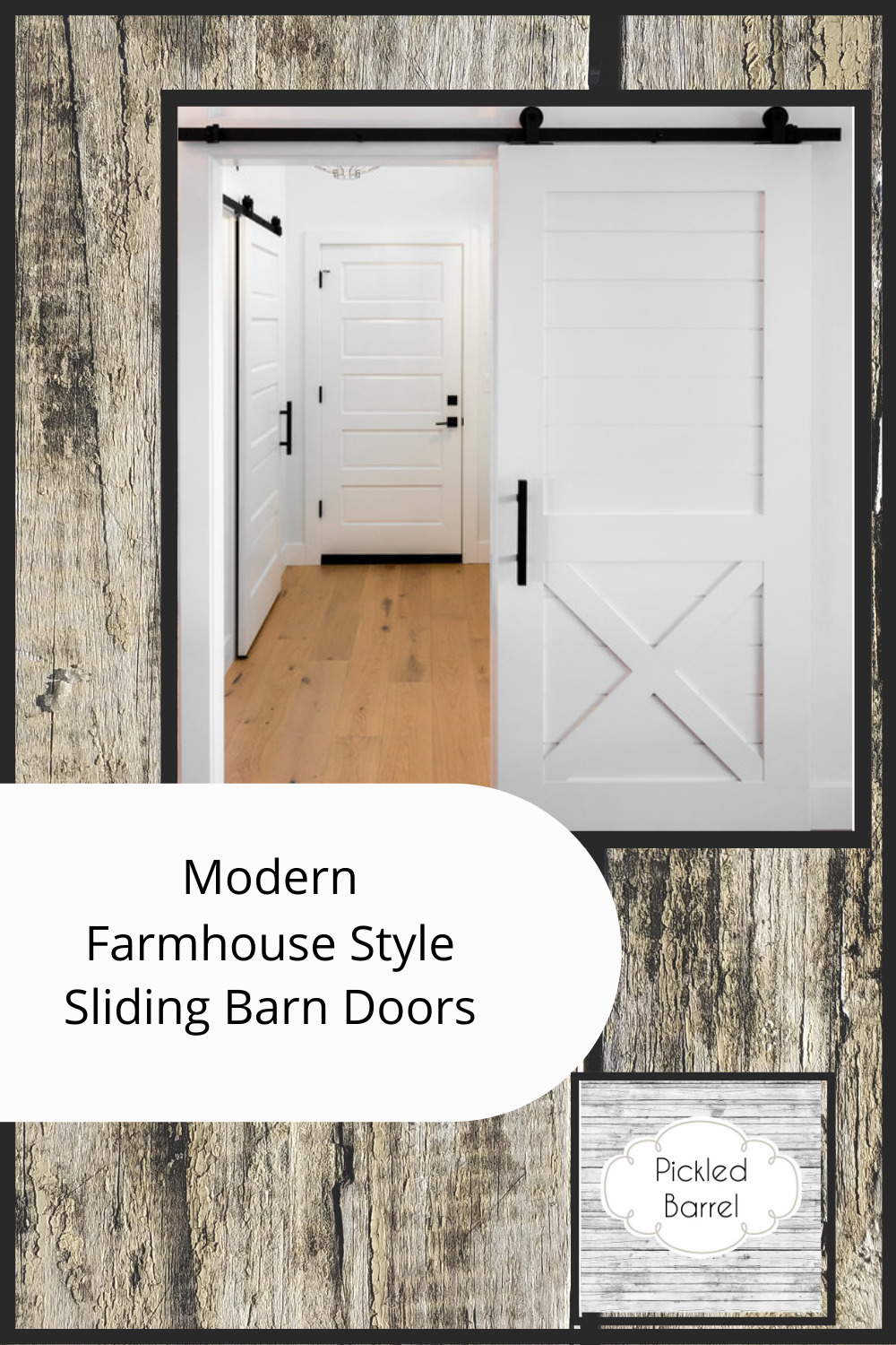 Pickledbarrel.com has all the best ideas and inspo for modern farmhouse style decor. Channel quaint but sleek vibes in your home with tons of styling tips. Sliding barn doors are the perfect way to tie your style together; check out these ideas today!
