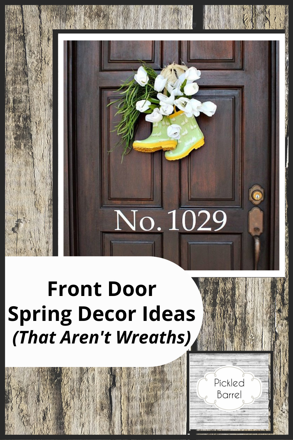 Pickledbarrel.com is filled with creative and cozy home decor ideas. Find the inspiration you need to get your home just right--inside and out! Check out these amazing spring decor ideas for your front door (without using wreaths).