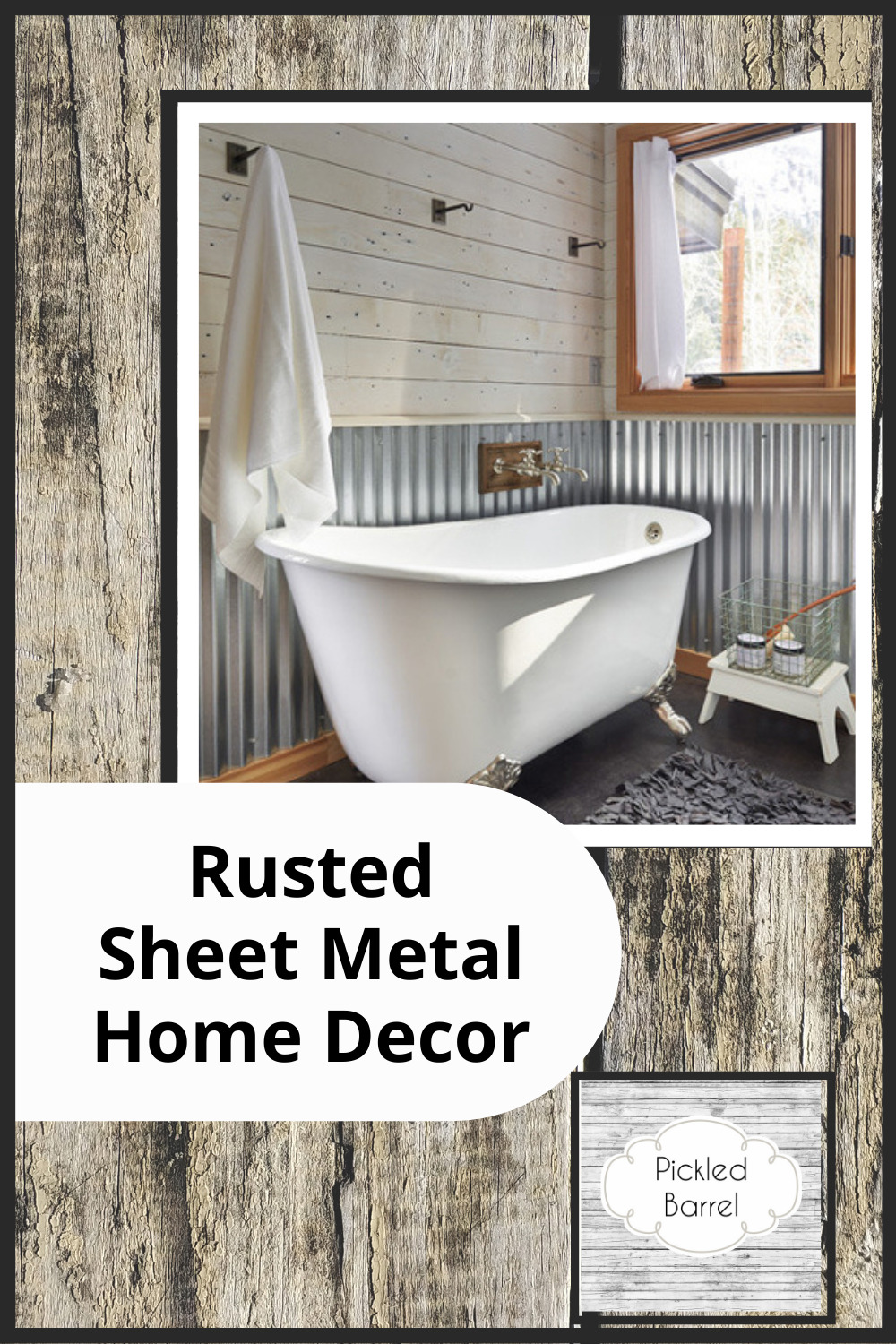Pickledbarrel.com has the best ideas for a modern rustic home. Make the most out of old items by repurposing them as decor! Find out how you can use rusted sheet metal in your home today!