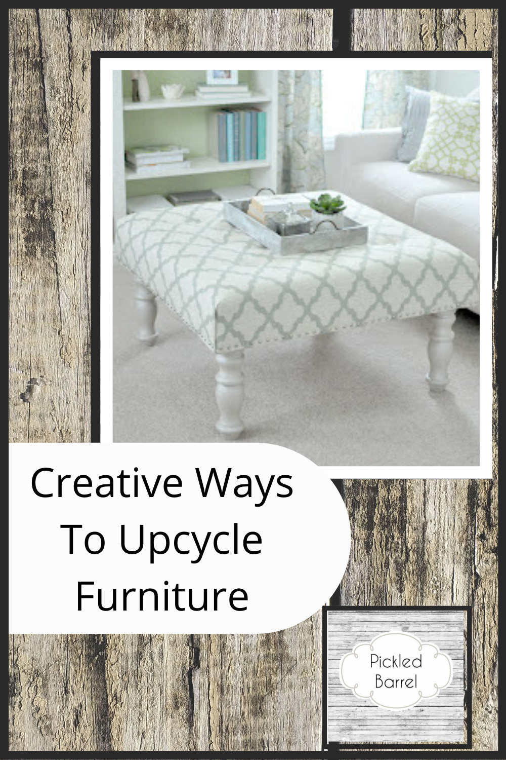 Pickledbarrel.com has creative, modern ideas with a rustic charm. Check out tons of DIY and decor ideas perfect for a modern farmhouse home. Don't let your old furniture go to waste with these clever upcycling ideas.