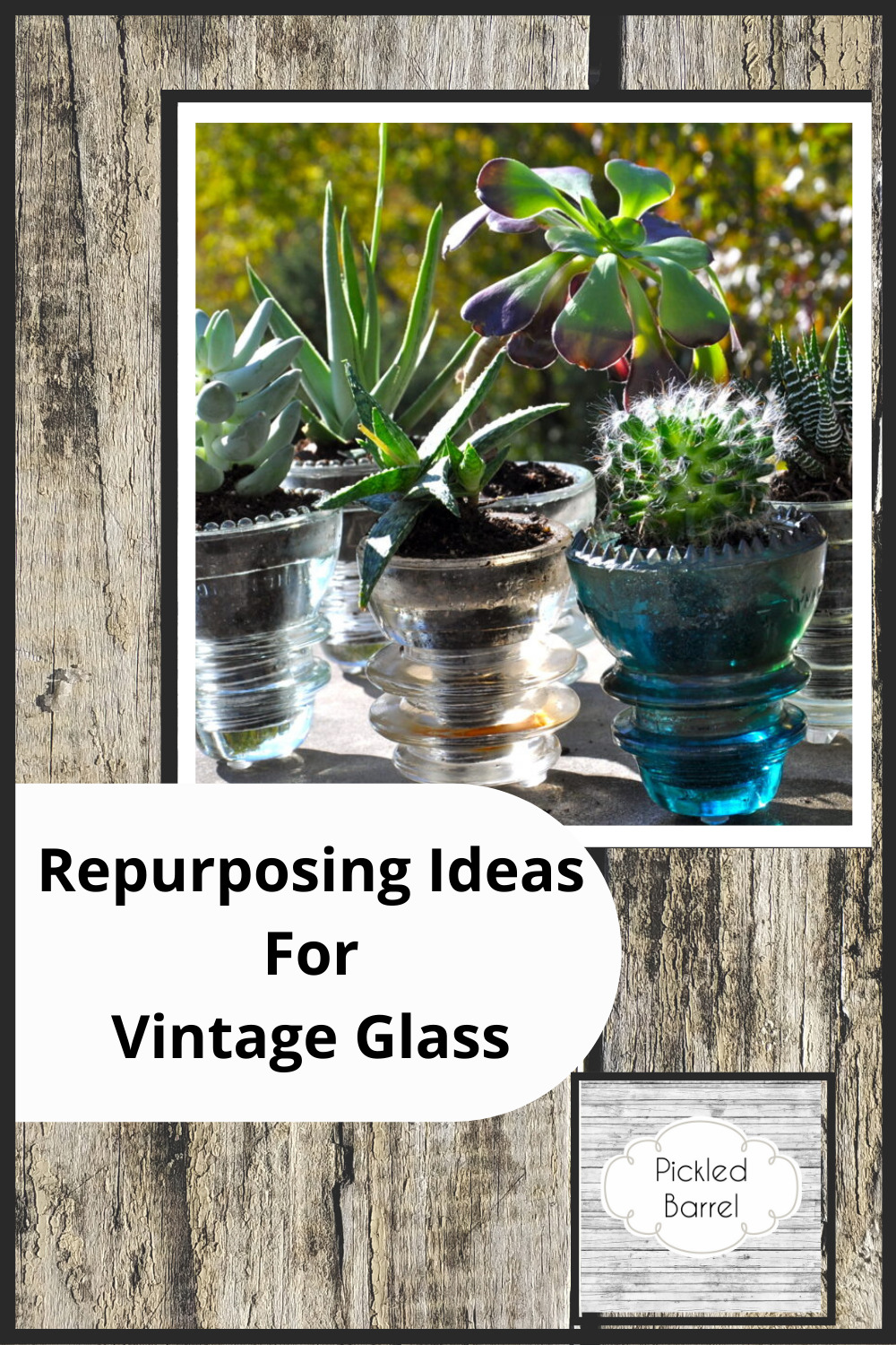 Pickledbarrel.com is THE place to find rustic charm and repurposing projects that look great and are a blast to do. Find ways to completely transform antiques into modern decor. Get started with these repurposing ideas for vintage glass.