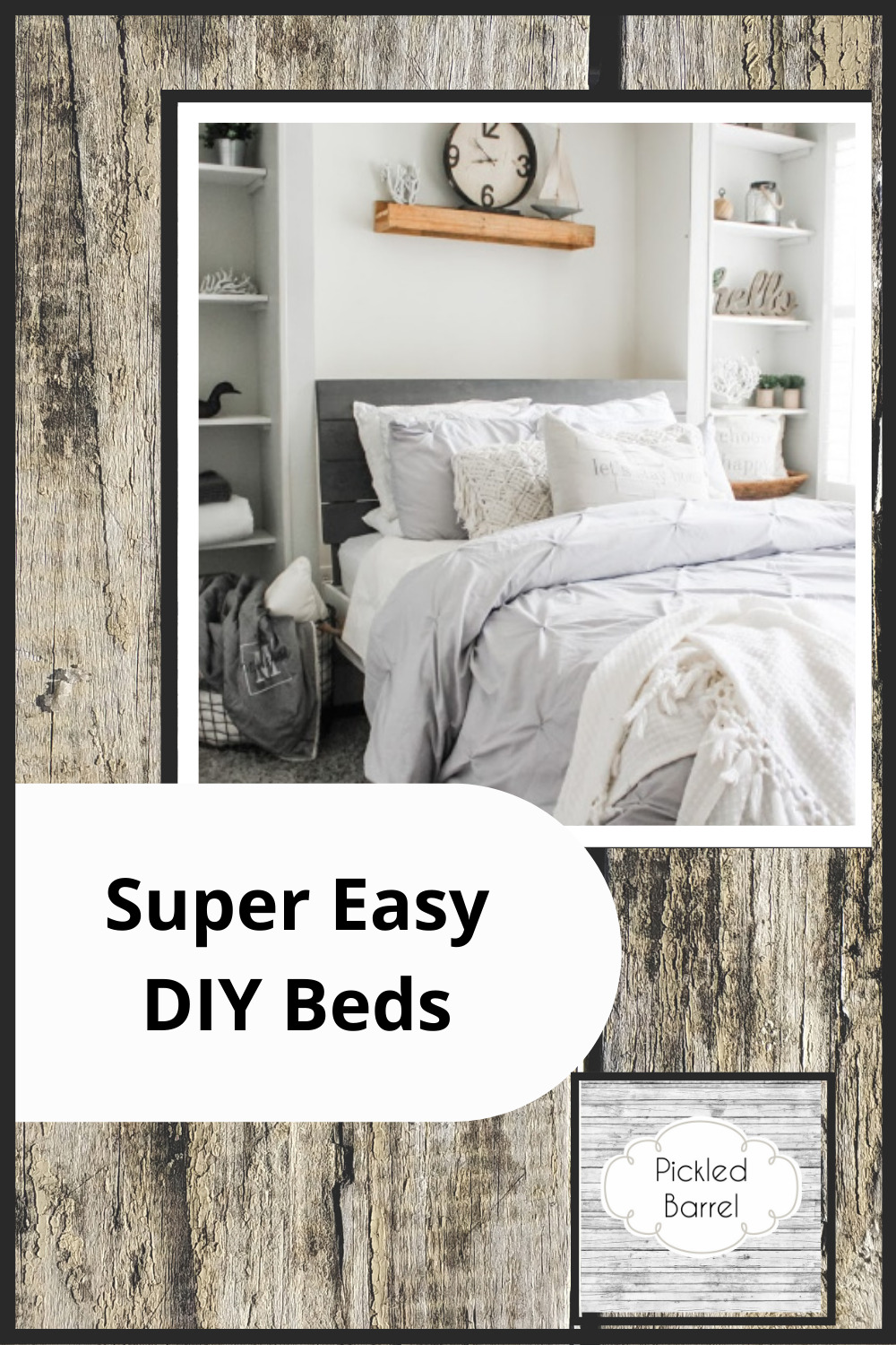 Want a new bed but don't want to spend a fortune? Pickledbarrel.com can help. Read on to learn about Easy DIY beds you can make in a day. Fast and affordable. Who doesn't like that?