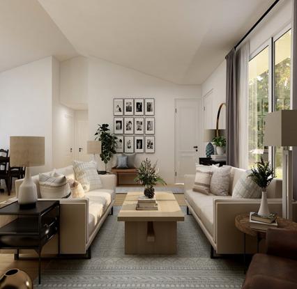 A cozy farmhouse living room