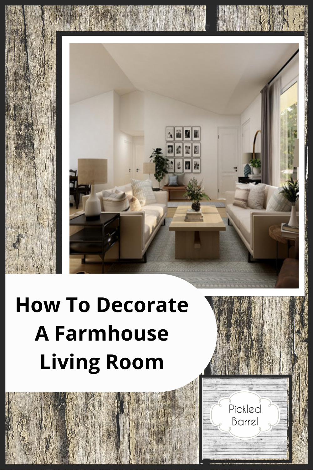 Pickledbarrel.com has perfectly quaint and rustic ideas for a farmhouse home. Find fresh, new decor ideas to spruce up your space. These ideas are absolutely perfect for a farmhouse style living room!