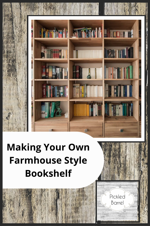 Pickledbarrel.com has quaint charm with a modern twist. Find the best rustic yet sleek modern farmhouse ideas, from home decor, to refurbishing. Find your finishing touch with these farmhouse bookshelf ideas.