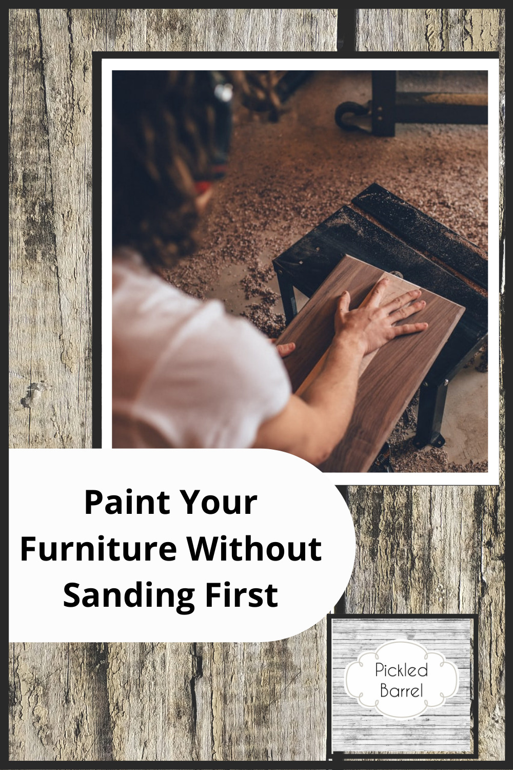 Pickledbarrel.com is the best source for farmhouse style, rustic decor, and simple upcycling ideas! Cut your project completion time in half! Learn how you can paint furniture without having to sand it first!