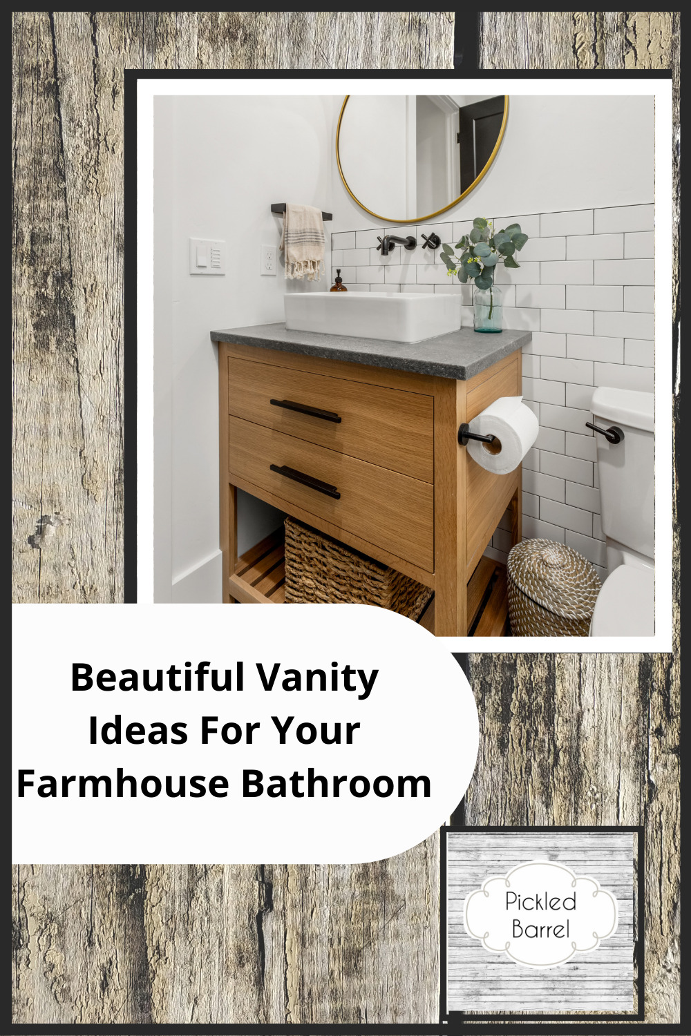 Pickledbarrel.com is the ultimate resource for all things rustic and farmhouse! Make sure every room of your house is absolutely perfect! Top it off with these amazing farmhouse bathroom vanities!