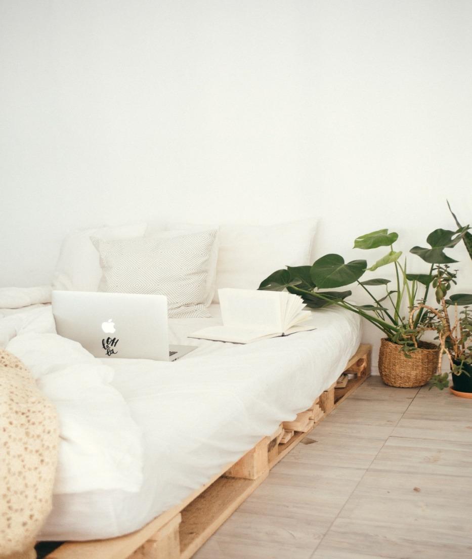Cozy modern farmhouse beds