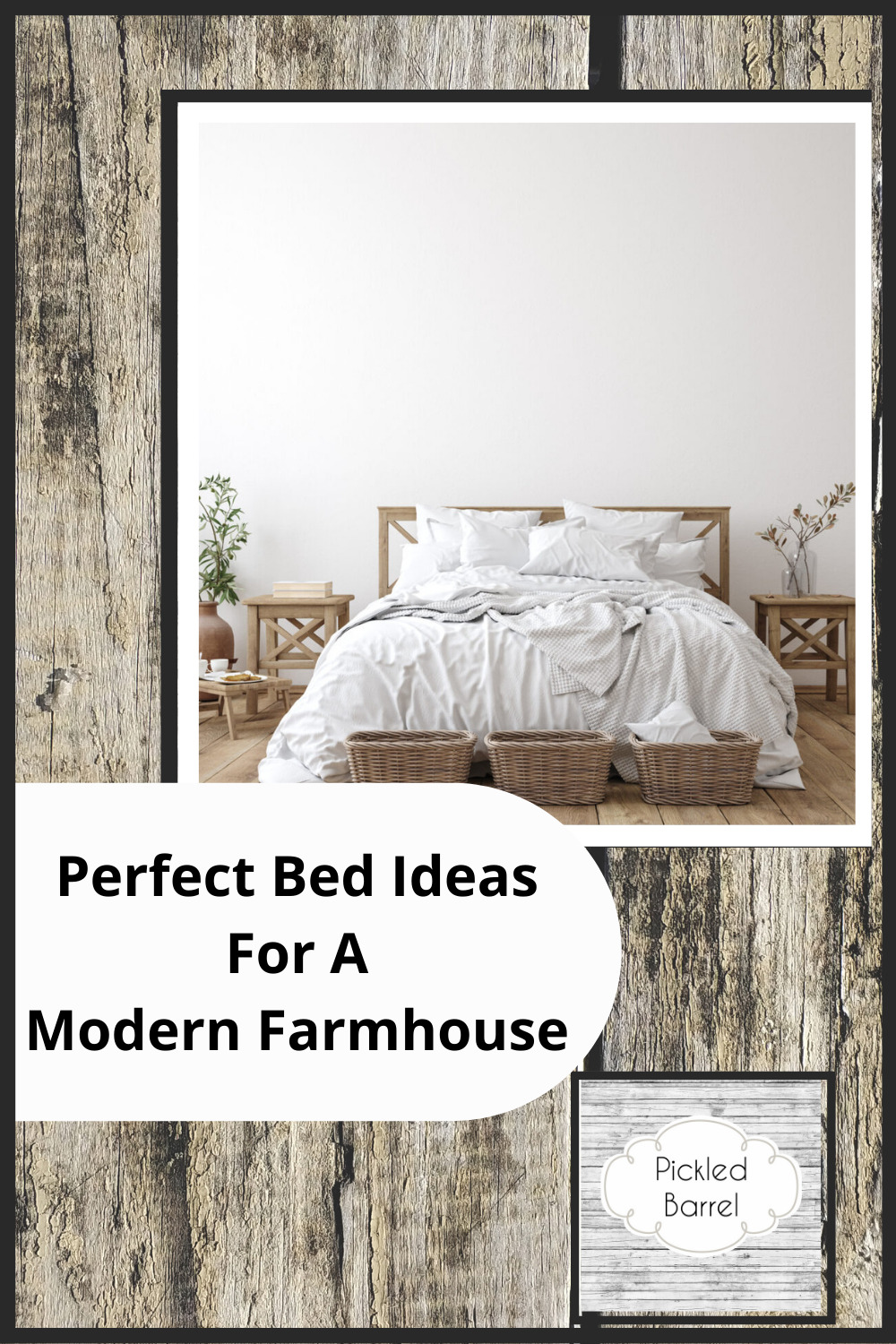 Pickledbarrel.com is the ultimate resource for all things rustic and farmhouse! Make sure every room of your house is absolutely perfect! Perfect your bedroom with these amazing farmhouse bed ideas!