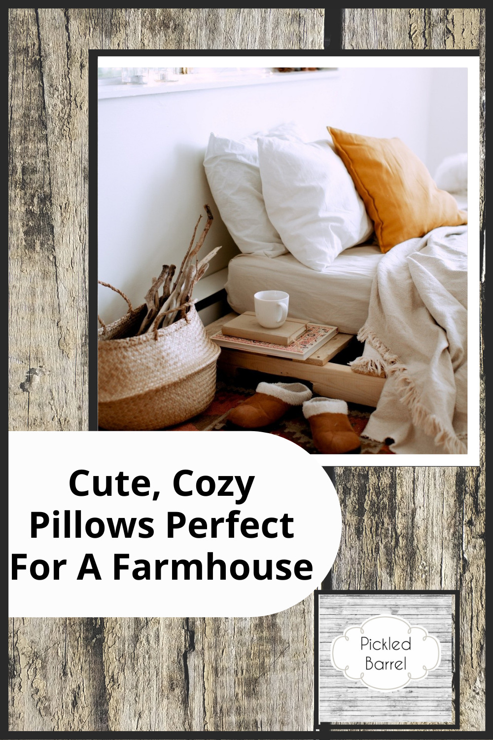 Pickledbarrel.com has perfectly quaint and rustic ideas for a farmhouse home. Find fresh, new decor ideas to spruce up your space. These throw pillow ideas are absolutely perfect for a farmhouse style living room!