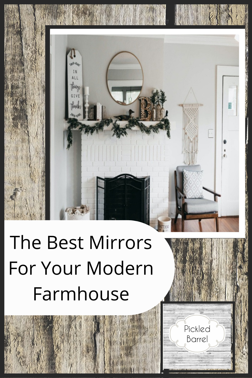 Pickledbarrel.com is the ultimate resource for all things rustic and farmhouse! Make sure every room of your house is absolutely perfect! Perfect your home with these amazing farmhouse mirror ideas!