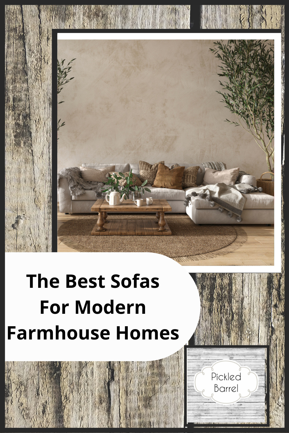Pickledbarrel.com has perfectly quaint and rustic ideas for a farmhouse home. Find fresh, new decor ideas to spruce up your space. These ideas are absolutely perfect for a farmhouse style living room sofa!