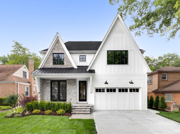 White Modern Farmhouse Garage Door Styles