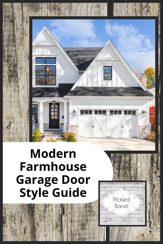 Pickledbarrel.com has quaint charm with a modern twist. Find the best rustic yet sleek modern farmhouse ideas, from home decor, to refurbishing. Find your finishing touch with these farmhouse style garage doors.